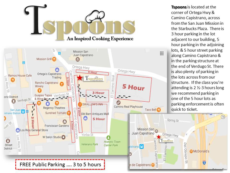 Tspoons Cooking Classes Parking Map